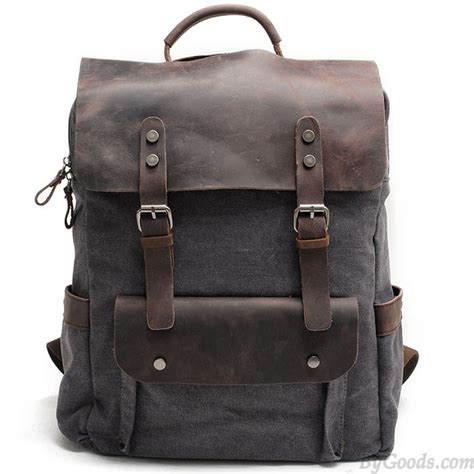 Fashionable Leather Retro Splicing Black - retro large thick canvas travel bag splicing leather