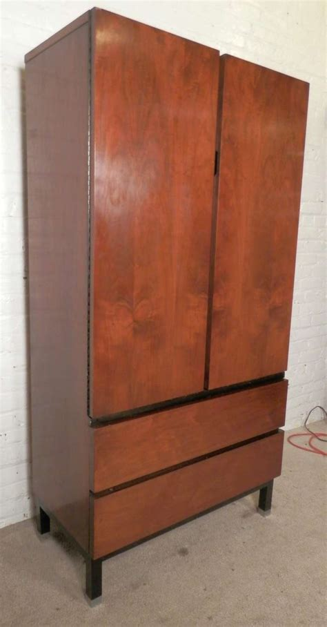 modern armoires sleek mid century modern armoire style dresser by martinsville at 1stdibs