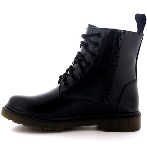 womens vintage army lace up combat flat