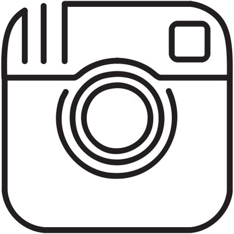 White Instagram Logo Outline by Instagram Media Network Social Icon Icon Search Engine