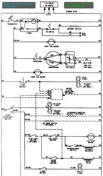 whirlpool refrigerator wiring diagram wiring diagram and