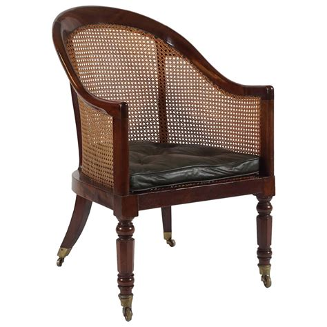 cane armchair english regency mahogany and cane library armchair dated