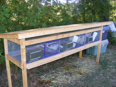 Handmade Rabbit Hutch - rabbit cages rabbit barn rabbits