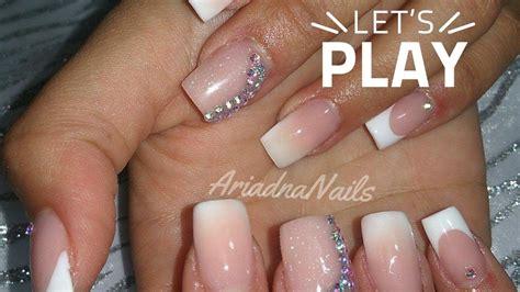 imagenes de uñas acrilicas con pedreria dise 241 o sencillo u 241 as acrilicas 2016 youtube