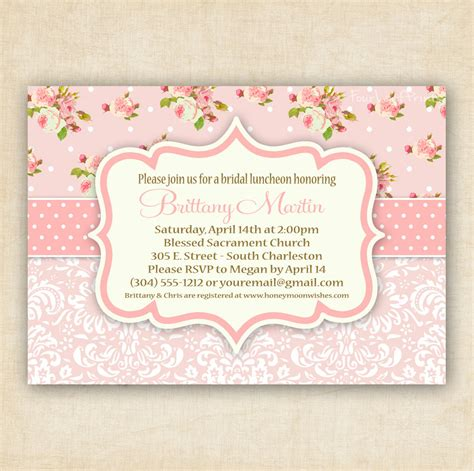 items similar to pink shabby chic floral and damask baby shower invitation printable diy