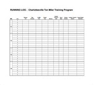 Running Log Template by Sle Running Log Template 9 Free Documents In Pdf
