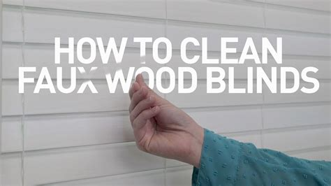 How Do I Clean A how to clean faux wood blinds