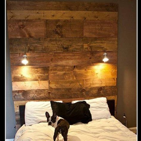 wood panel headboard diy diy headboard with wood and ikea lights diymeubles