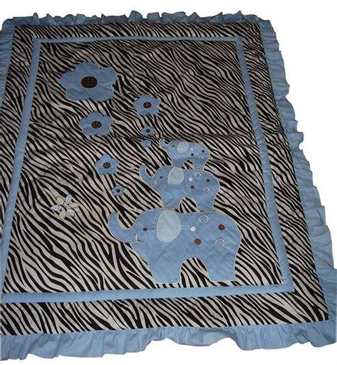 Baby Boutique Blue Zebra 13 Pcs Crib Nursery Bedding Blue Zebra Bedding
