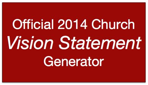 sample church mission and vision statements