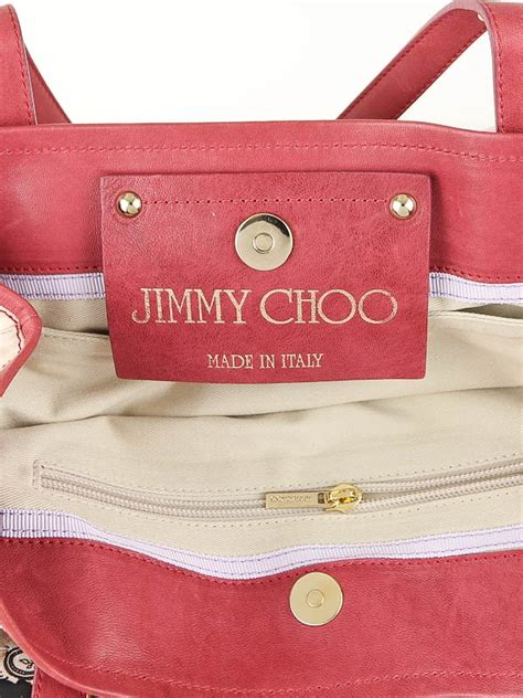 Jimmy Choo Polly Glazed Canvas Bag by Jimmy Choo Multicolor Glazed Canvas Scarlet L Tote Bag