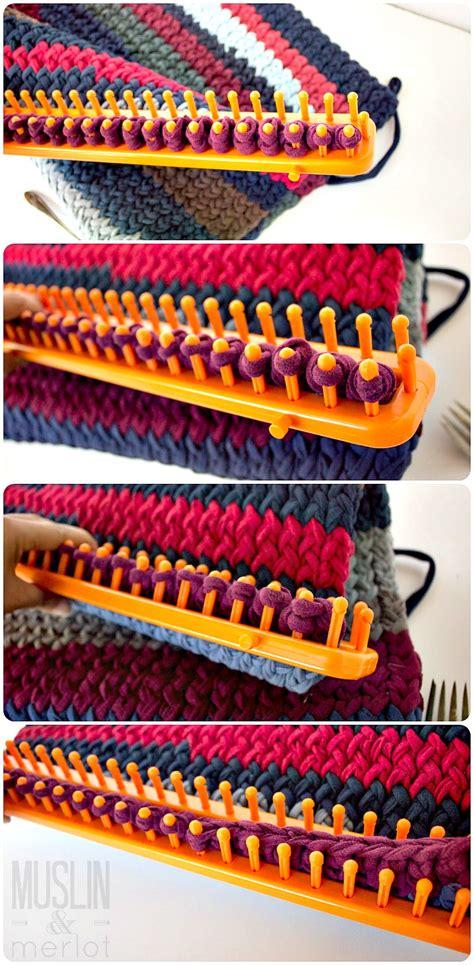 knitting loom knitting loom t shirt rug muslin and merlot