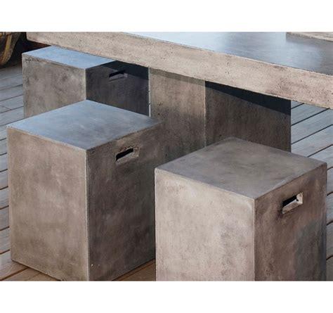 beton cube tabouret cube b 233 ton pour ext 233 rieur int 233 rieur assorti 224 la