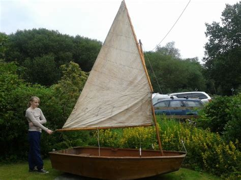 design home rigged gunter rig wooden sailing dinghy for sale