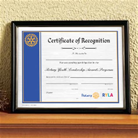 rotary certificate of appreciation template year end awards gifts rotary club supplies