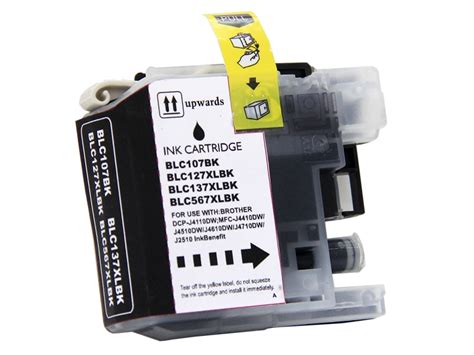Tinta Broter Lc 583 Black Colour Original compatible lc107bk high yield black ink cartridge