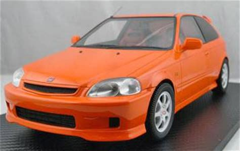 honda civic type r orange amiami character hobby shop 1 18 honda civic type r