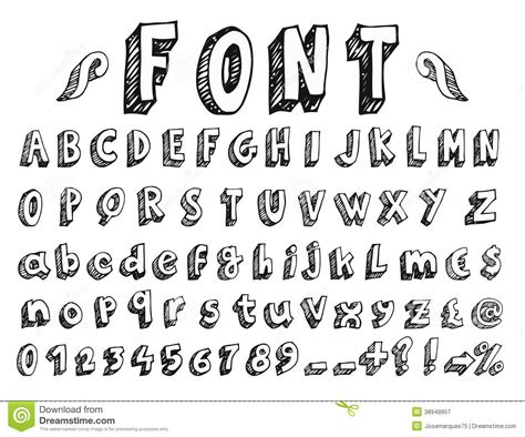 doodle font https www dreamstime royalty free stock photography