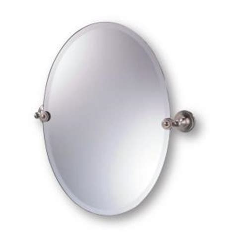 oval pivot bathroom mirror moderno diviana 20 in x 24 in oval pivot mirror in brushed nickel discontinued al divmr 21