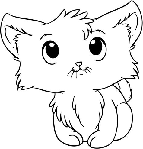 Kitty Cat Coloring Page Az Coloring Pages Coloring Pages Kittens