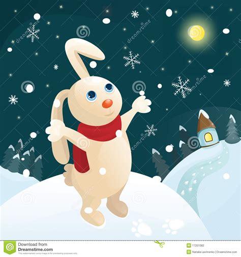 clipart new year rabbit winter rabbit stock photography image 17201082