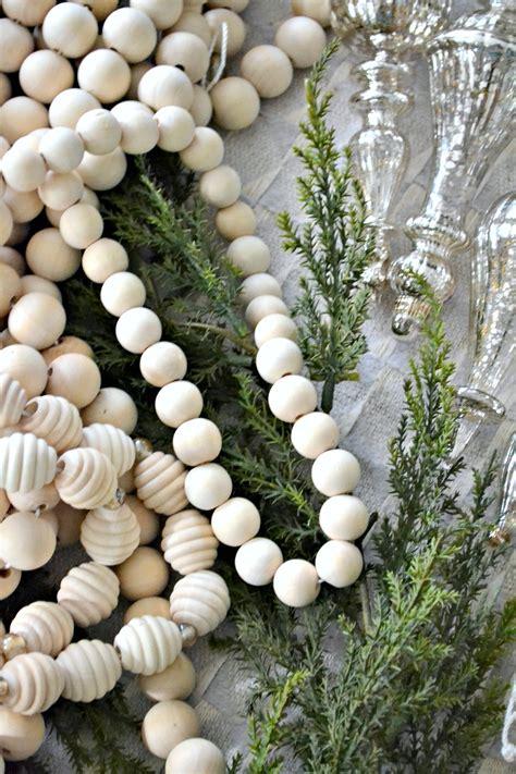 wood bead garland diy wood bead garland 3 ways woodland theme