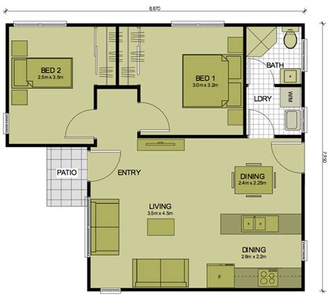 granny flat floor plans 2 bedrooms 2 bedroom classic sydney granny flats