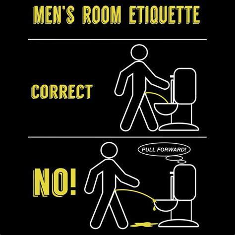 Room Etiquette by S Room Etiquette T Shirt By Samuel Sheats Toilets