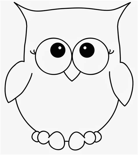 Printable Outline Of An Owl | simple owl drawing coloring pages
