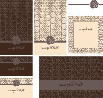 Wedding Card Design Cdr File Free by Set Of Beautiful Wedding Cards Design Vector Free Vector