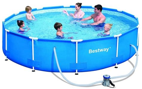 Kolam Ground Steel Pro Frame Pool Bestway 56245 White Kualitas Terbaik kolam renang besar steel pro frame pool ground 56062