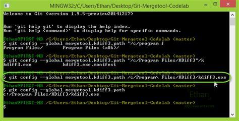 kdiff3 git dev แนะนำ git mergetool สำหร บช วย merge code แบบม gui
