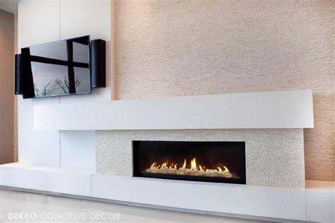 Concrete Fireplace Mantel Shelf by Custom Lightweight Concrete Mantel Modern Living Room