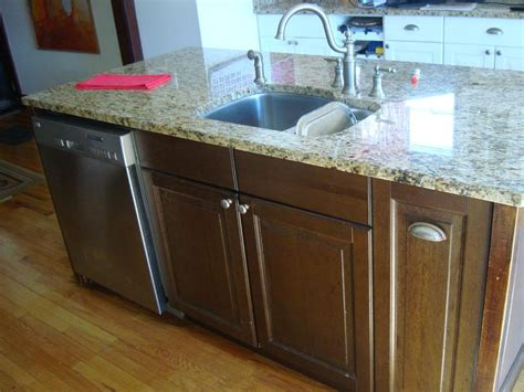 kitchen island with dishwasher like new granite kitchen island with dishwasher and sink