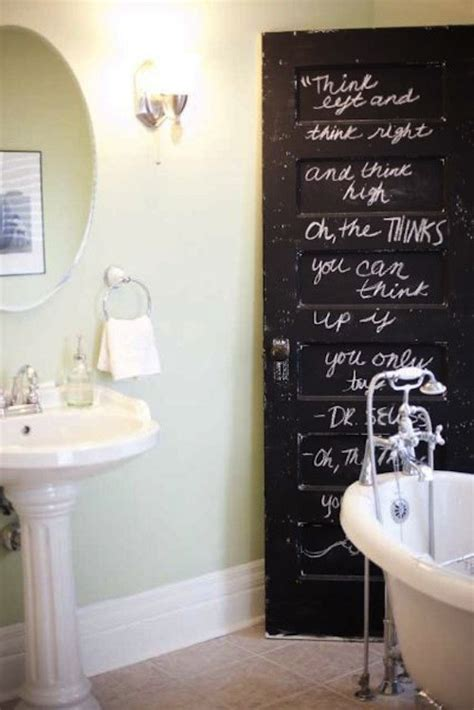 bathroom decorating ideas diy creatief met krijtbordverf girlscene