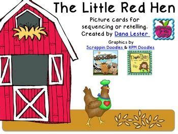 printable version of little red hen these cards are to be used in conjunction to any version