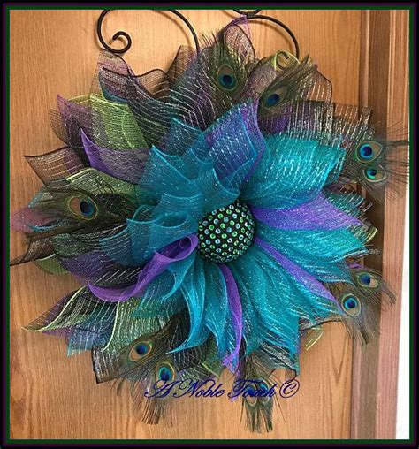awesome peacock feather wreath decorating ideas gallery in 110 best wreaths images on pinterest christmas decor