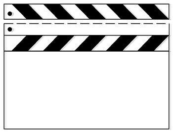 Blank Clapboard Template Clapper Board Template Free