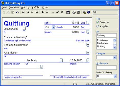 Microsoft Word Vorlage Quittung sks quittung pro chip