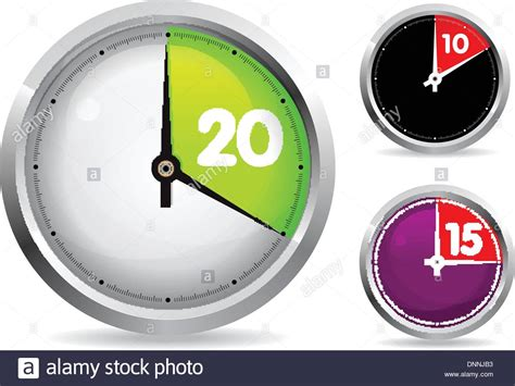 timers collection stock vector image 40611442