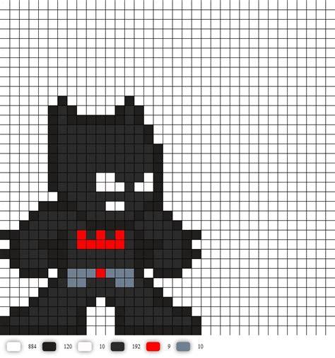 batman beyond dc perler bead pattern my 8bithero
