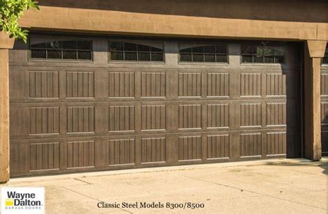 Dalton Overhead Doors Wayne Dalton 8300 8500 Garage Doors Faux Wood Finish Wayne Dalton Garage