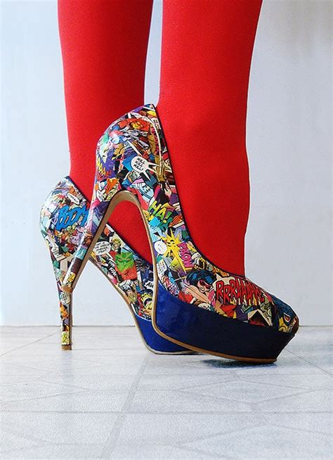 diy comic shoes killer diy comic high heels bit rebels