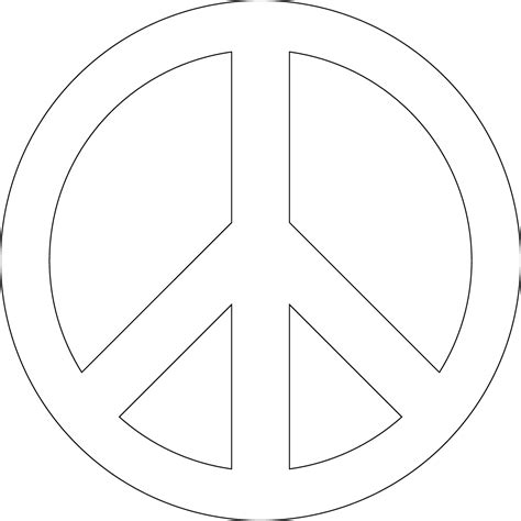 Peace Sign Template Clipart Best Clipart Best Peace Sign Template