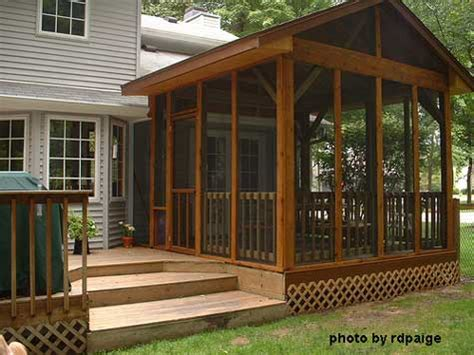 screen house plans download screen porch building plans plans free