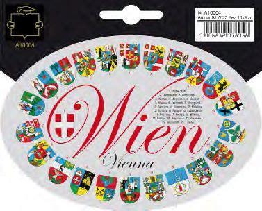 Autoaufkleber Wien autoaufkleber wien bezirke wappen wien souvenirs
