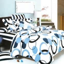 blue black white geo dot teen girl bedding modern