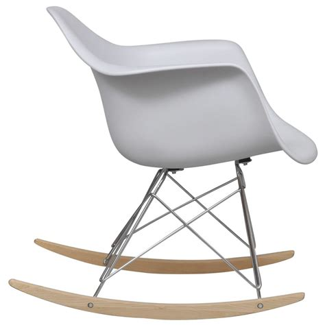 Rocking Chair Legs by White Rocking Chair With Metal Legs Vidaxl
