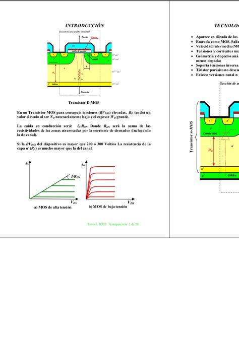 transistor igbt fabricacion 28 images electr 243 nica de potencia igbt estructura y
