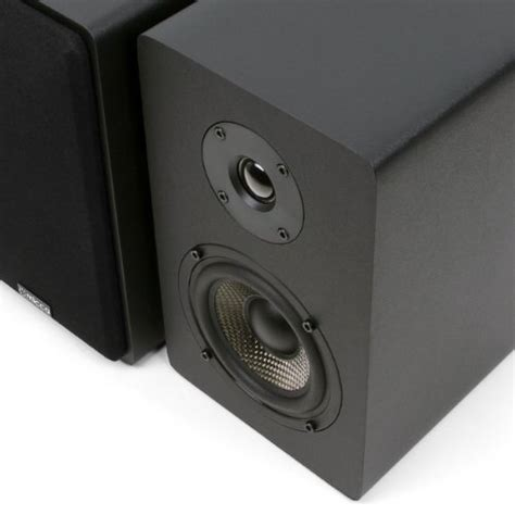 micca mb42x bookshelf speakers with 4 inch carbon fiber